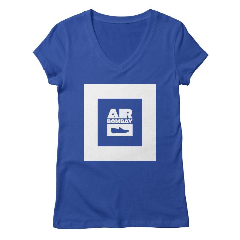 The Air Bombay | Dark Women's V-Neck by The Quack Attack