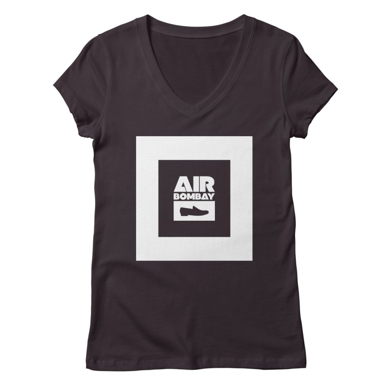 The Air Bombay   Dark Women's Regular V-Neck by The Quack Attack