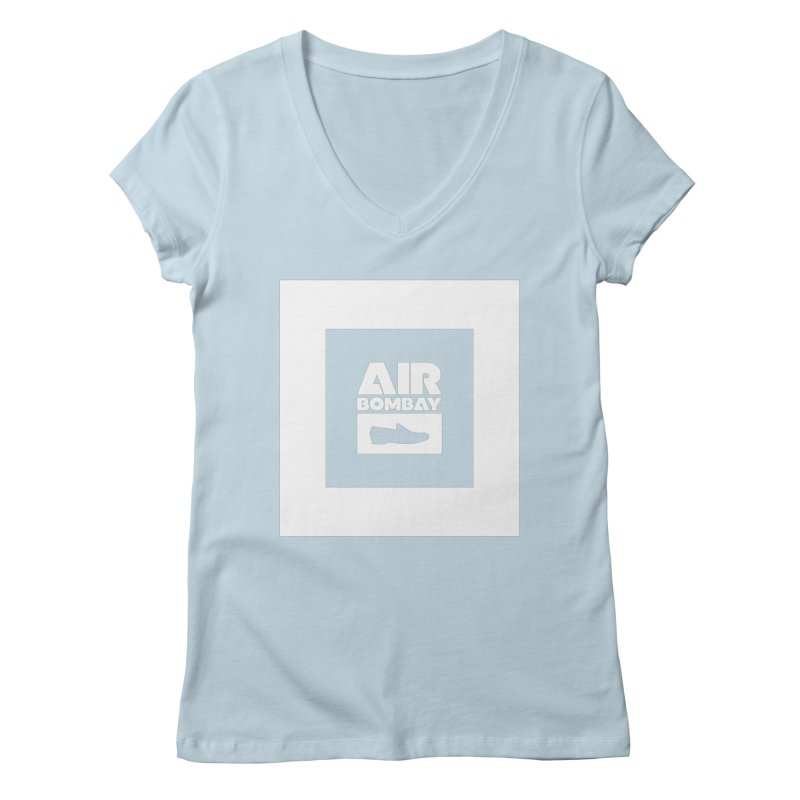 The Air Bombay | Dark Women's Regular V-Neck by The Quack Attack