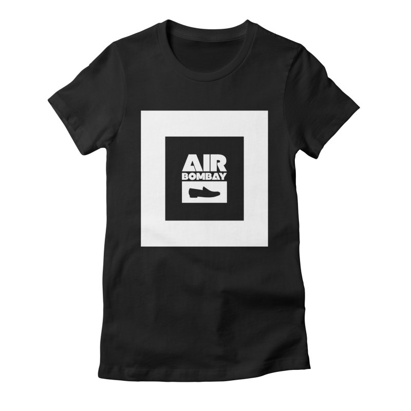 The Air Bombay | Dark Women's Fitted T-Shirt by The Quack Attack
