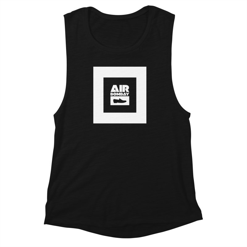 The Air Bombay | Dark Women's Muscle Tank by The Quack Attack