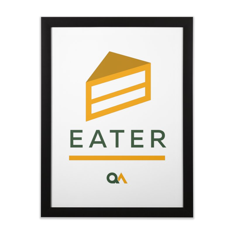 The Cake Eater | Light Home Framed Fine Art Print by The Quack Attack