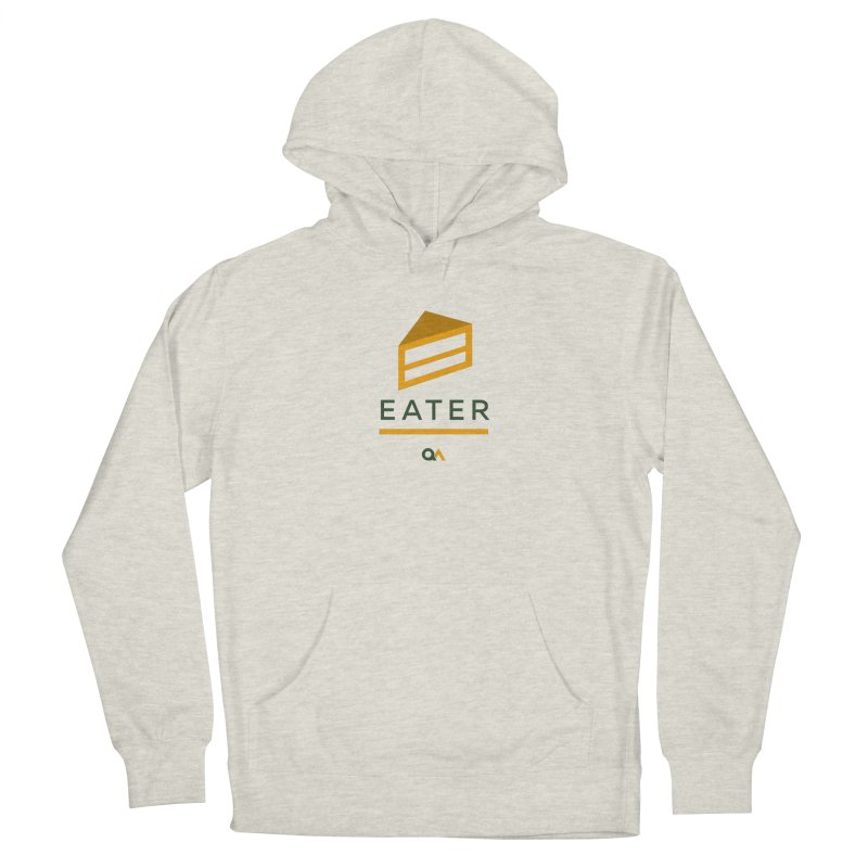 The Cake Eater | Light Women's French Terry Pullover Hoody by The Quack Attack