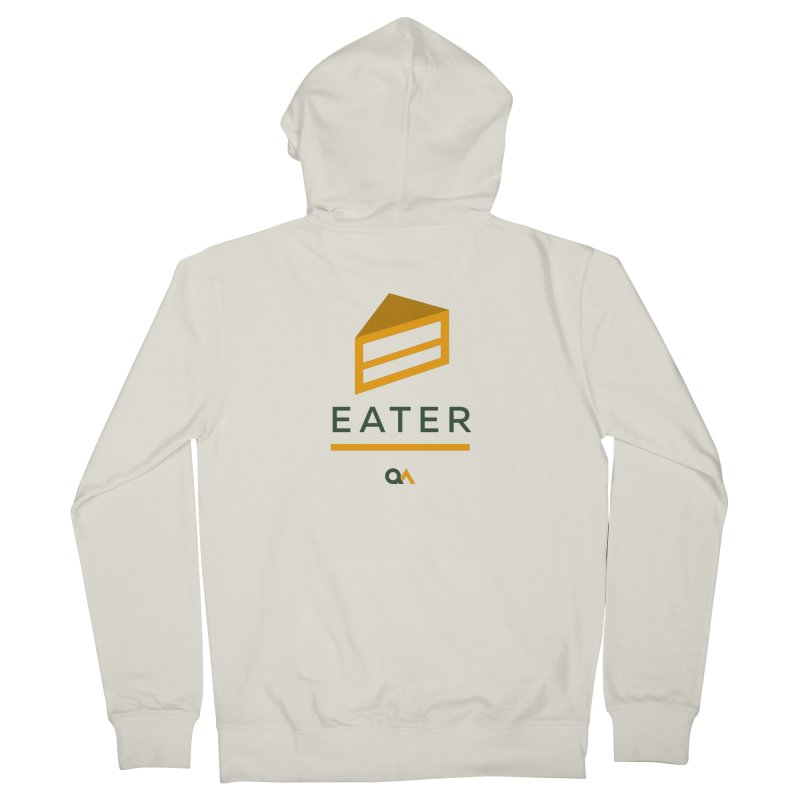 The Cake Eater | Light Men's French Terry Zip-Up Hoody by The Quack Attack