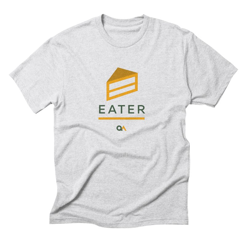 The Cake Eater | Light in Men's Triblend T-Shirt Heather White by The Quack Attack