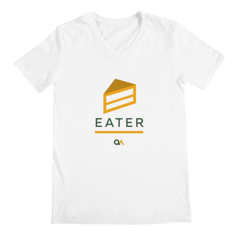 The Cake Eater | Light Men's V-Neck by The Quack Attack