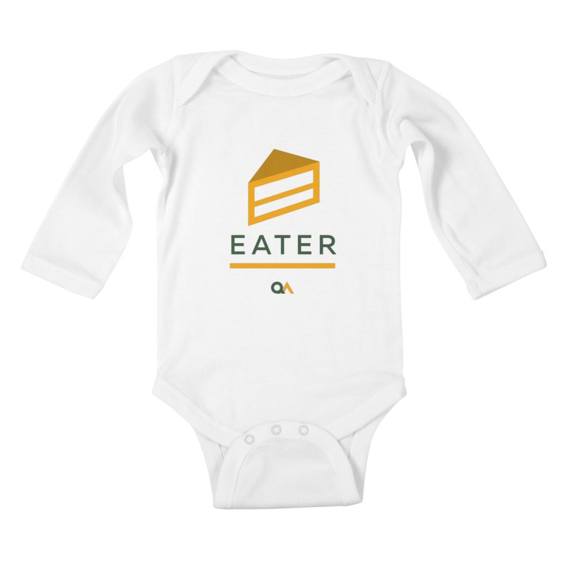 The Cake Eater | Light Kids Baby Longsleeve Bodysuit by The Quack Attack