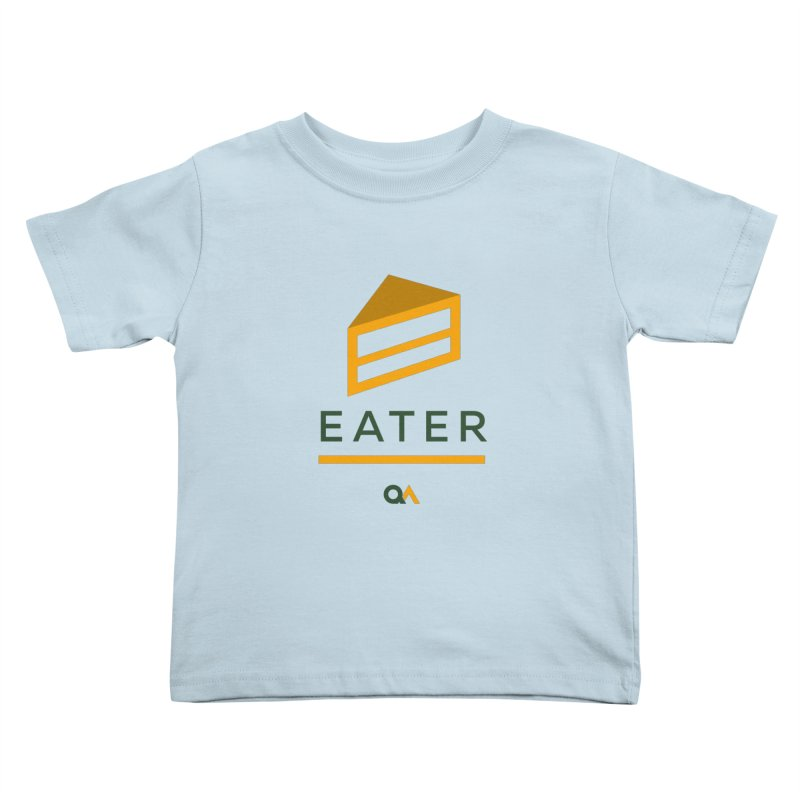 The Cake Eater | Light Kids Toddler T-Shirt by The Quack Attack