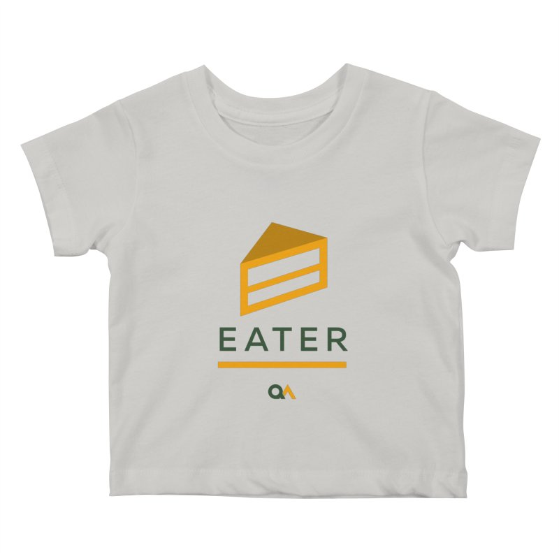 The Cake Eater | Light Kids Baby T-Shirt by The Quack Attack