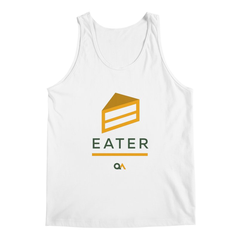 The Cake Eater | Light Men's Tank by The Quack Attack