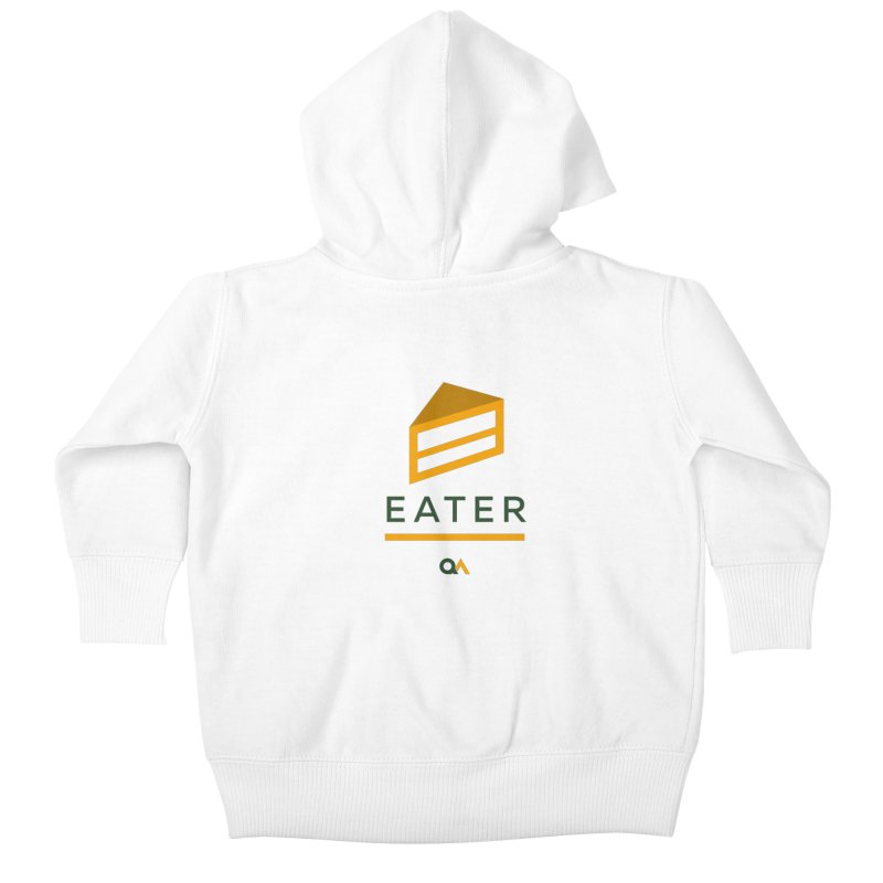 The Cake Eater | Light Kids Baby Zip-Up Hoody by The Quack Attack