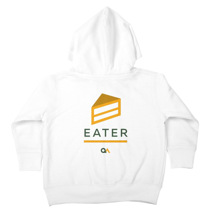 The Cake Eater | Light Kids Toddler Zip-Up Hoody by The Quack Attack