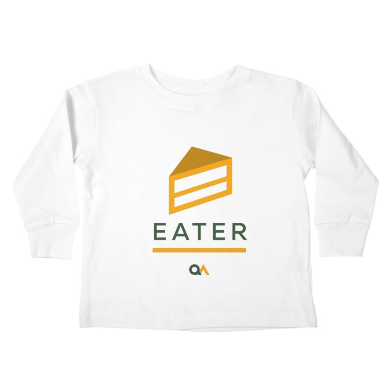 The Cake Eater | Light Kids Toddler Longsleeve T-Shirt by The Quack Attack