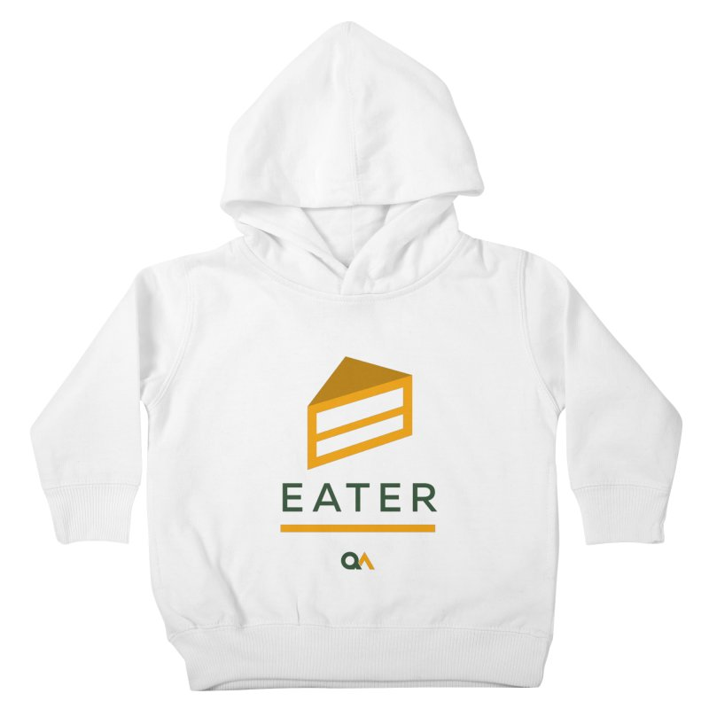 The Cake Eater | Light Kids Toddler Pullover Hoody by The Quack Attack