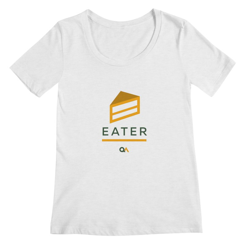 The Cake Eater | Light Women's Scoopneck by The Quack Attack
