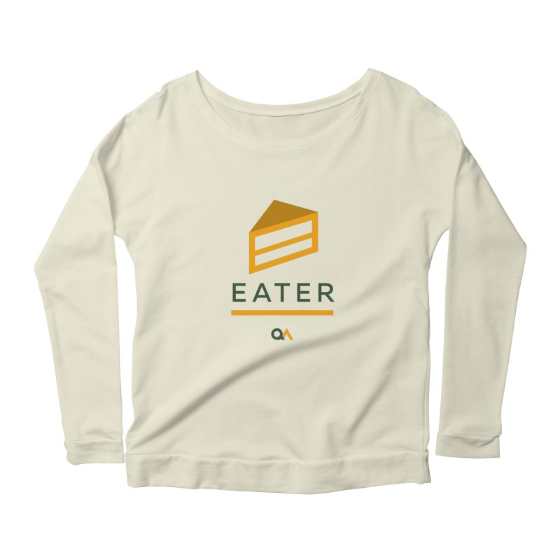 The Cake Eater | Light Women's Scoop Neck Longsleeve T-Shirt by The Quack Attack