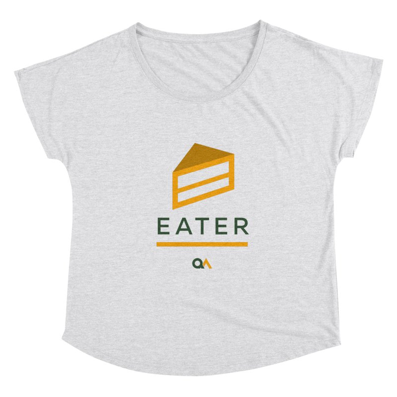 The Cake Eater | Light Women's Dolman Scoop Neck by The Quack Attack