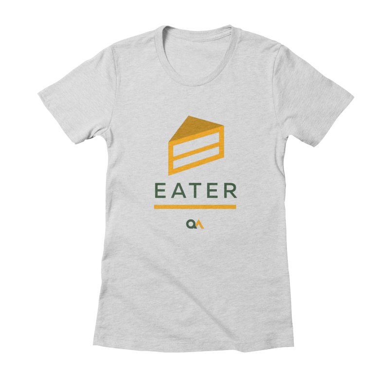 The Cake Eater | Light Women's Fitted T-Shirt by The Quack Attack