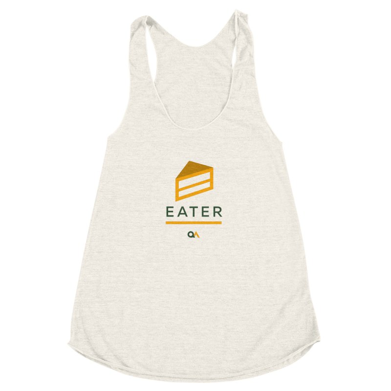 The Cake Eater | Light Women's Racerback Triblend Tank by The Quack Attack