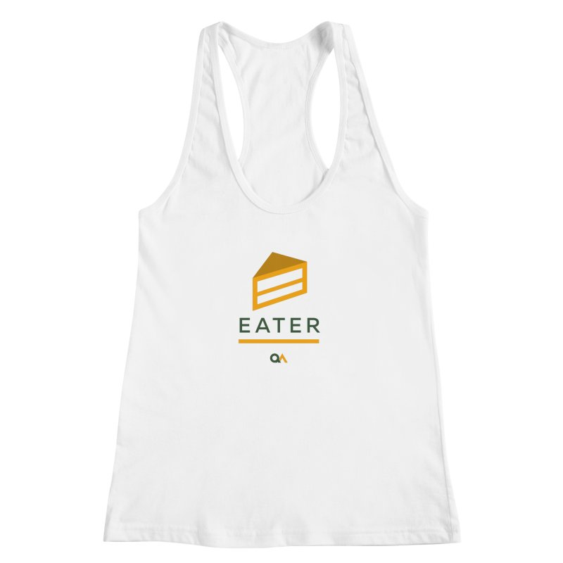 The Cake Eater | Light Women's Racerback Tank by The Quack Attack