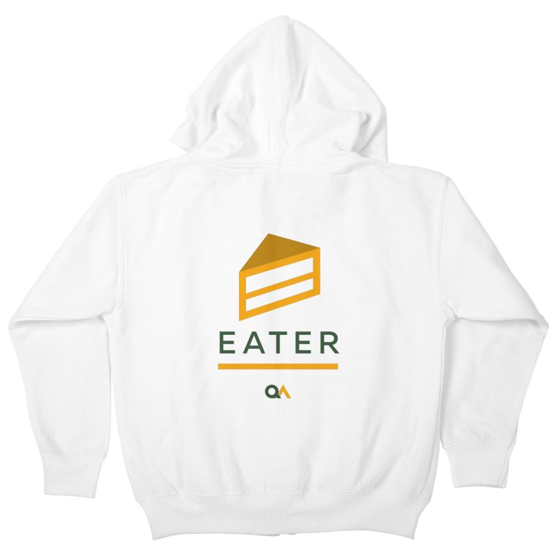 The Cake Eater | Light Kids Zip-Up Hoody by The Quack Attack