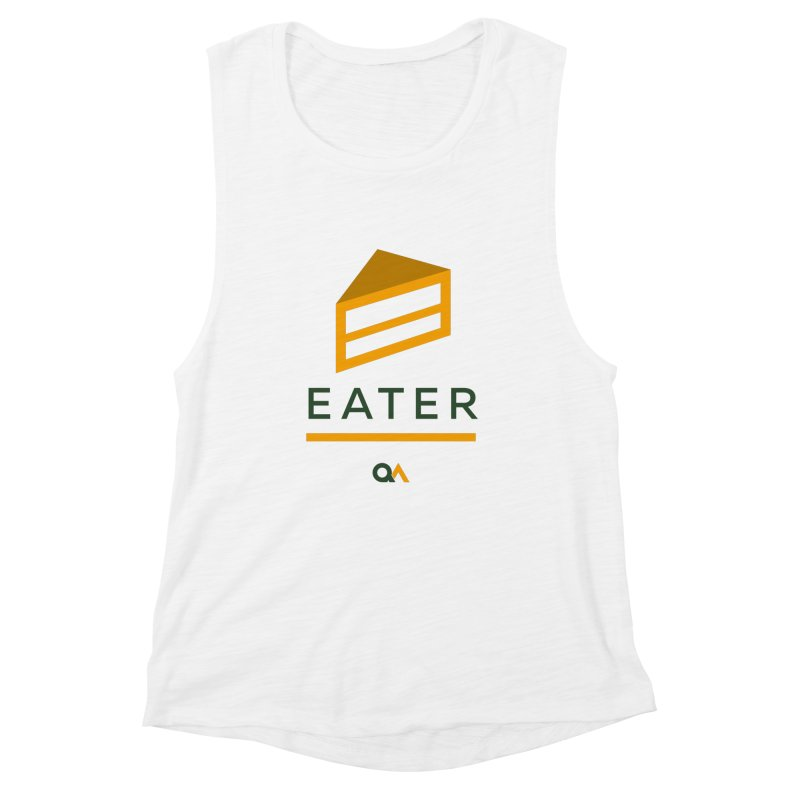 The Cake Eater | Light Women's Muscle Tank by The Quack Attack