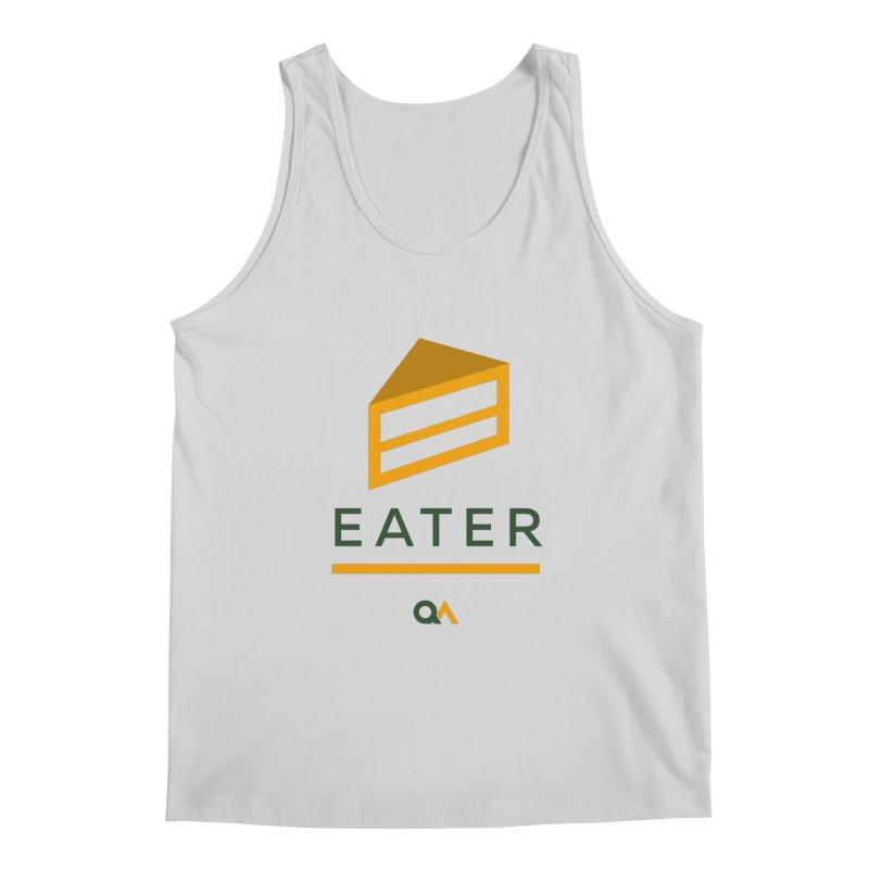 The Cake Eater | Light Men's Regular Tank by The Quack Attack
