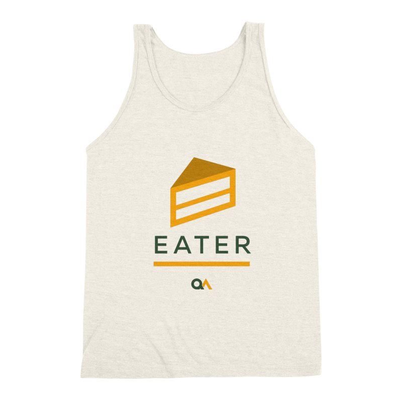 The Cake Eater | Light Men's Triblend Tank by The Quack Attack