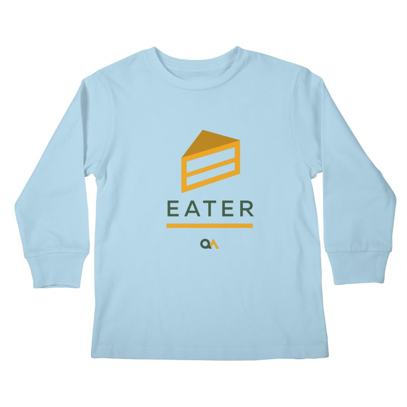The Cake Eater | Light Kids Longsleeve T-Shirt by The Quack Attack