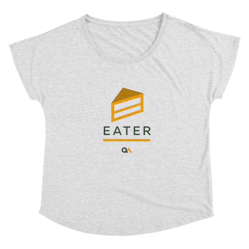 The Cake Eater | Light Women's Scoop Neck by The Quack Attack