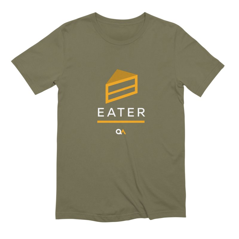 The Cake Eater | Dark Men's Extra Soft T-Shirt by The Quack Attack