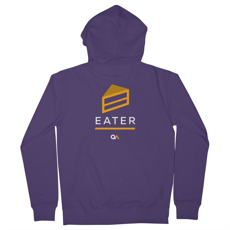 The Cake Eater | Dark Women's Zip-Up Hoody by The Quack Attack