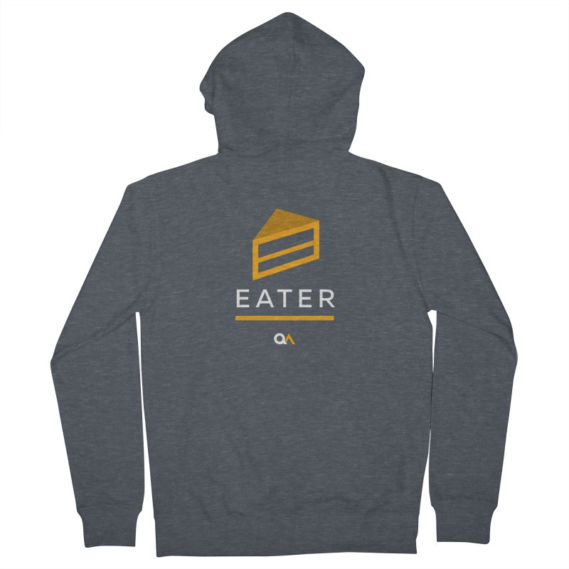 The Cake Eater | Dark Men's French Terry Zip-Up Hoody by The Quack Attack