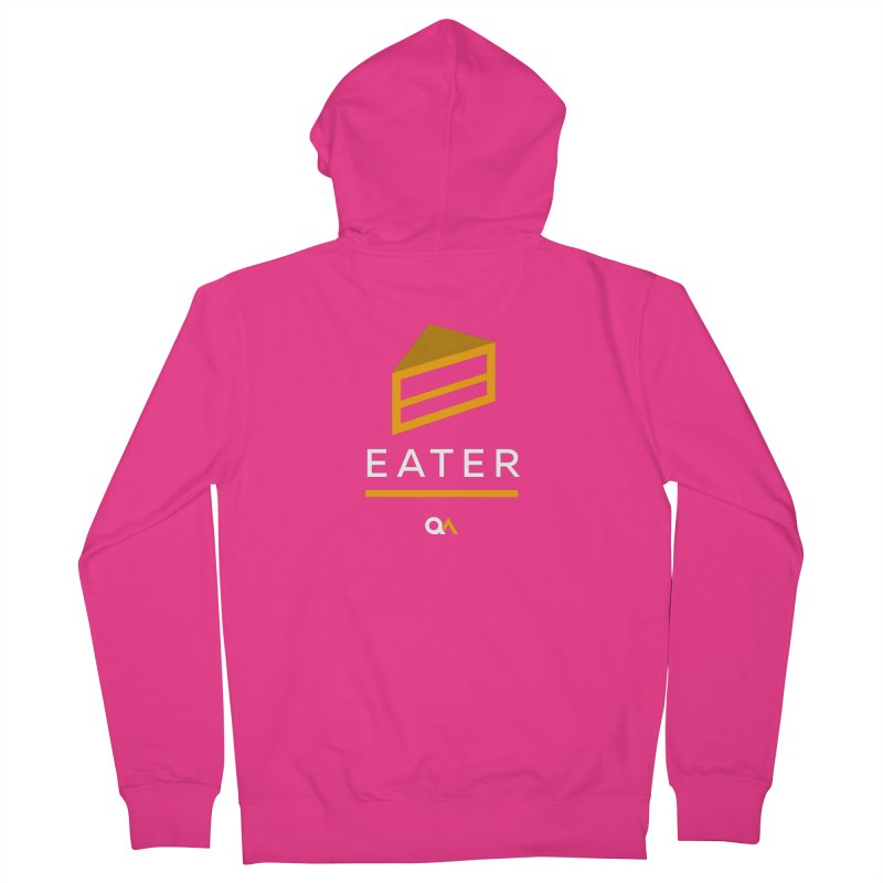 The Cake Eater | Dark Men's Zip-Up Hoody by The Quack Attack
