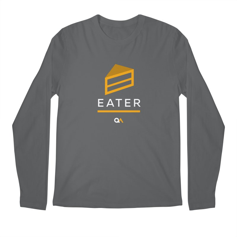 The Cake Eater | Dark Men's Regular Longsleeve T-Shirt by The Quack Attack