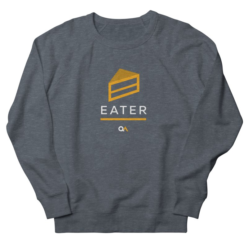 The Cake Eater   Dark Men's French Terry Sweatshirt by The Quack Attack