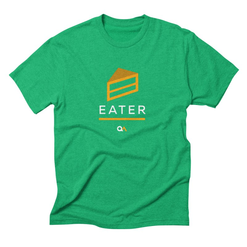 The Cake Eater | Dark Men's Triblend T-Shirt by The Quack Attack