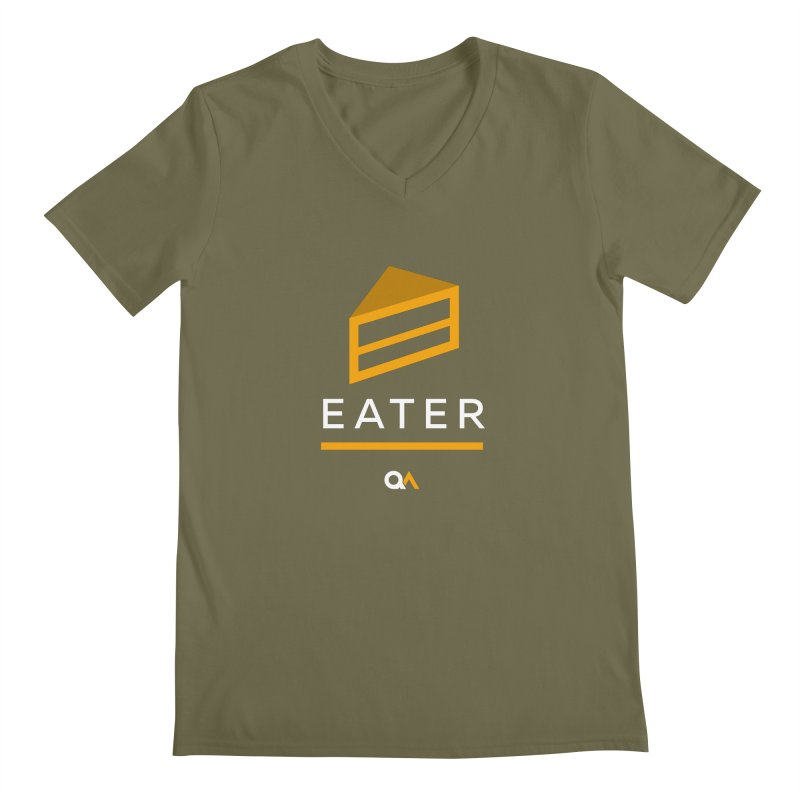 The Cake Eater | Dark Men's V-Neck by The Quack Attack