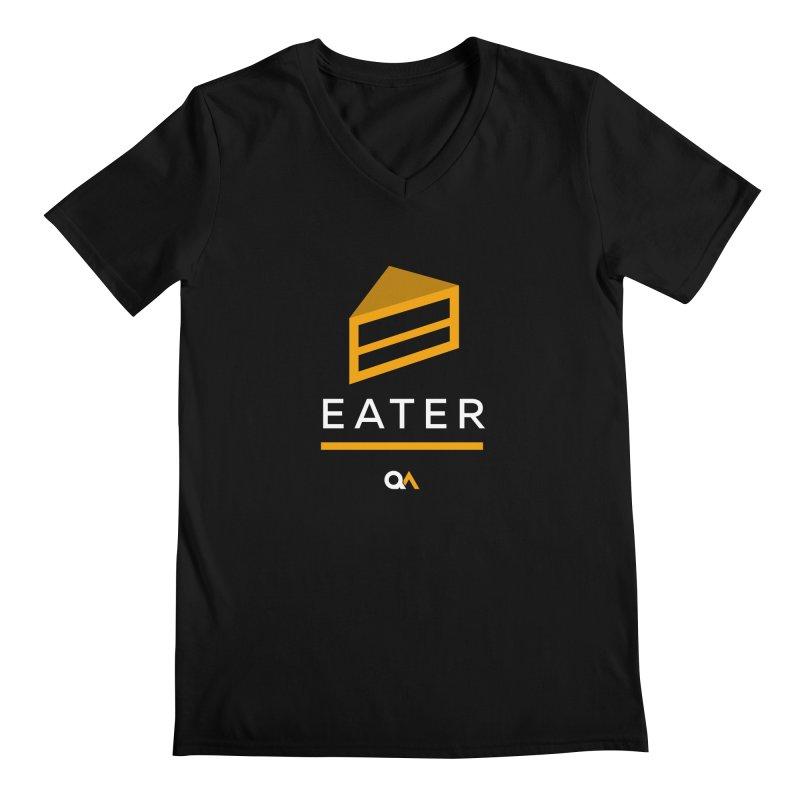 The Cake Eater | Dark Men's Regular V-Neck by The Quack Attack