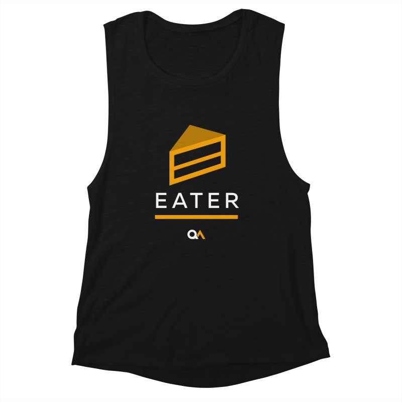 The Cake Eater | Dark Women's Tank by The Quack Attack