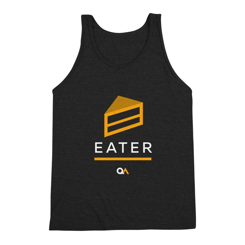 The Cake Eater   Dark Men's Tank by The Quack Attack