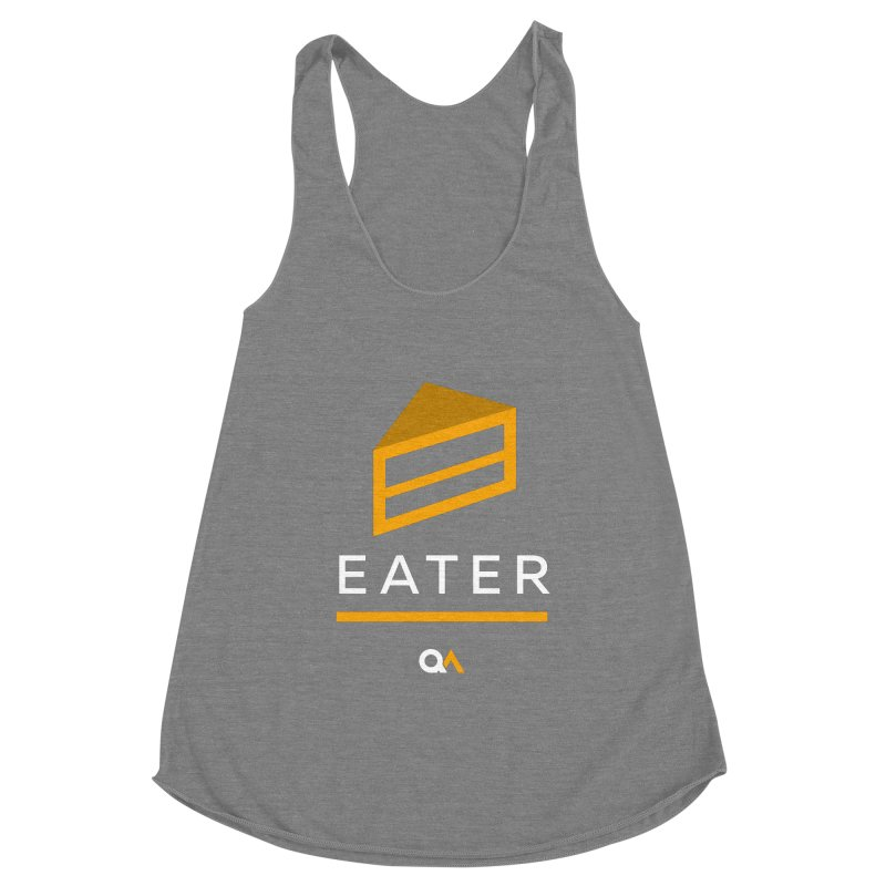 The Cake Eater | Dark Women's Racerback Triblend Tank by The Quack Attack