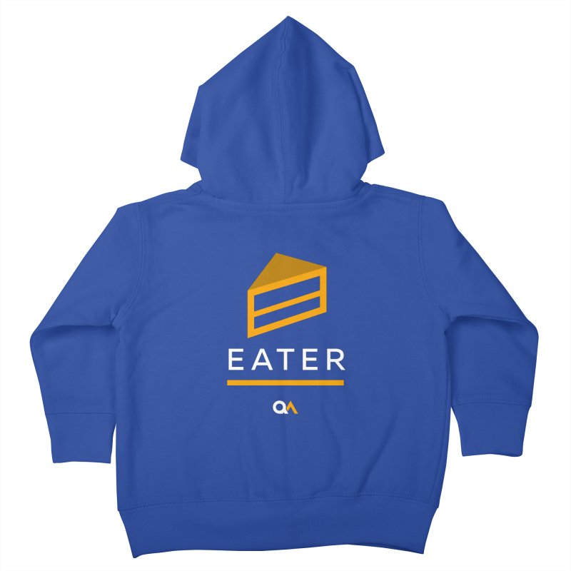 The Cake Eater | Dark Kids Toddler Zip-Up Hoody by The Quack Attack
