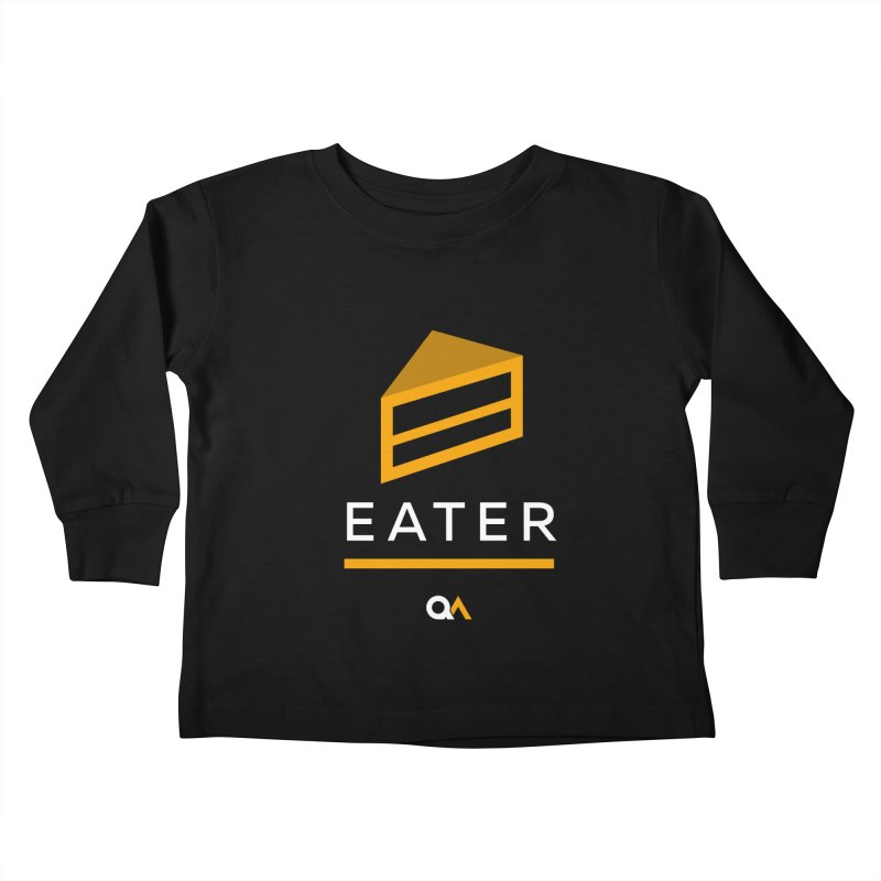 The Cake Eater | Dark Kids Toddler Longsleeve T-Shirt by The Quack Attack