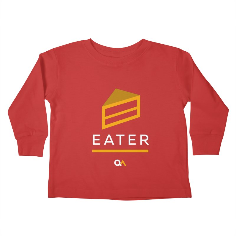 The Cake Eater   Dark Kids Toddler Longsleeve T-Shirt by The Quack Attack
