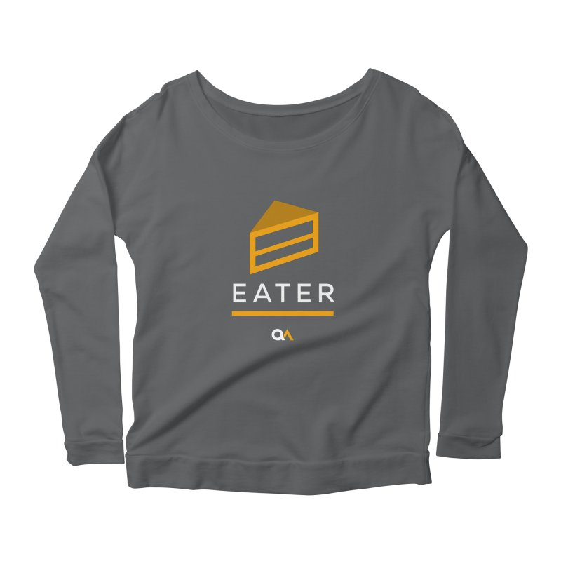 The Cake Eater | Dark Women's Longsleeve Scoopneck  by The Quack Attack