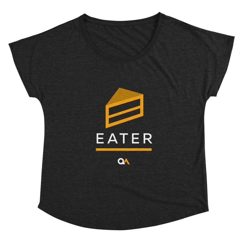 The Cake Eater | Dark Women's Dolman Scoop Neck by The Quack Attack