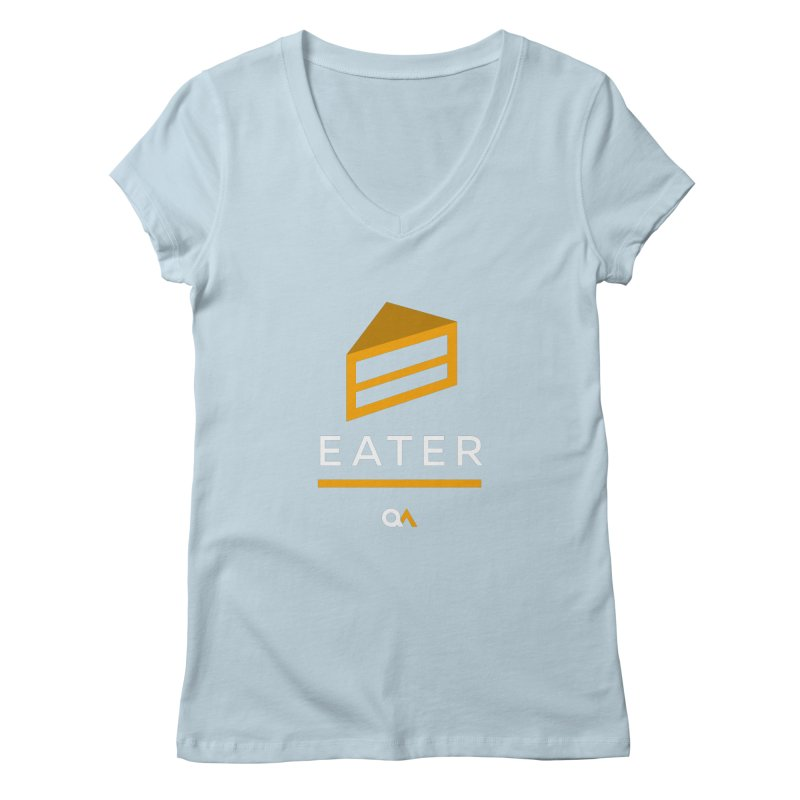 The Cake Eater | Dark Women's Regular V-Neck by The Quack Attack