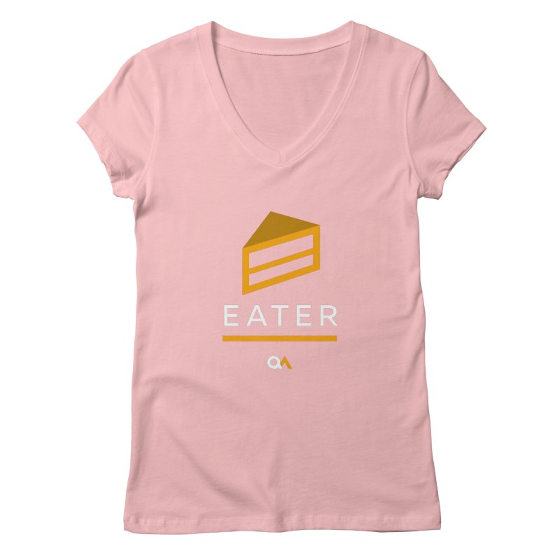 The Cake Eater | Dark Women's V-Neck by The Quack Attack