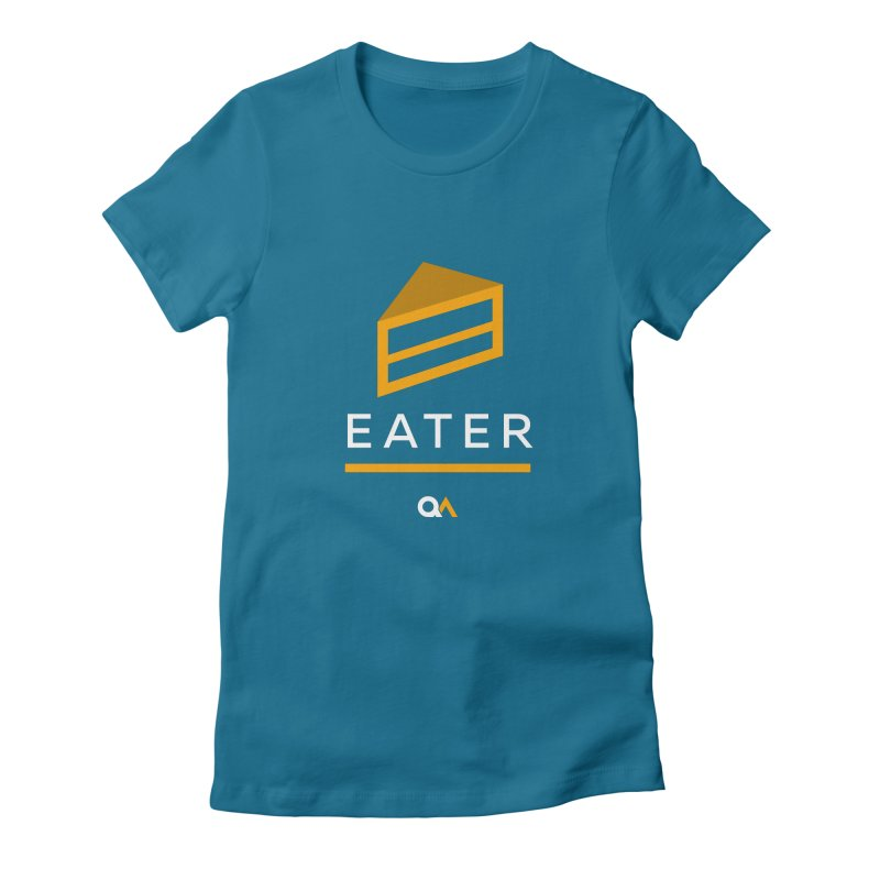 The Cake Eater   Dark Women's Fitted T-Shirt by The Quack Attack